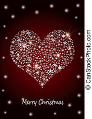 "Christmas Background ""Heart"""