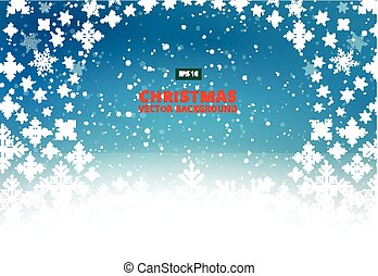 Christmas Background with snowflake, Winter vector Illustration