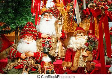 Christmas decorations at a Christmas Market.