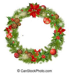 Christmas garland vector frame