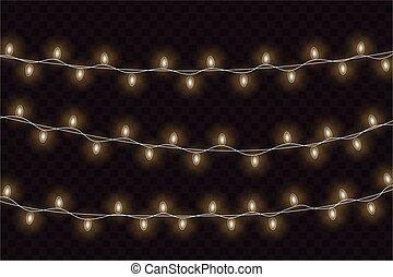 Christmas glowing lights.