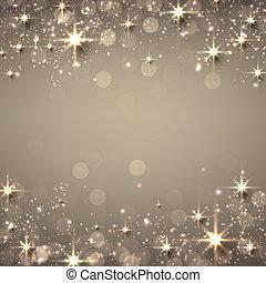 Christmas golden starry background.