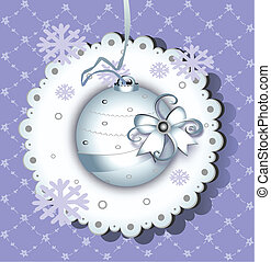 Christmas illustration with white ball
