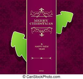 Christmas invitation card.