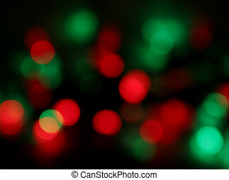 Christmas Light Blur