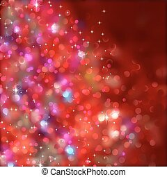 Red blurry christmas lights. (Without a transparency) EPS 8 vector file included