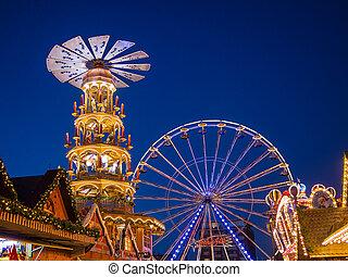 Christmas market in Rostock (Germany).