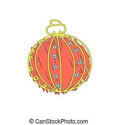 Christmas orange ball