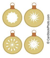 Set of vector ornaments - glass balls