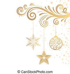 christmas ornament and star