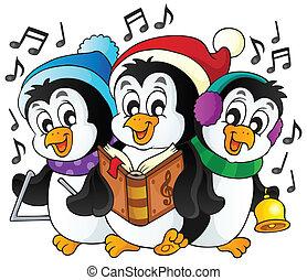 Christmas penguins theme image 1
