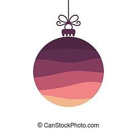 Christmas purple ball ornament.