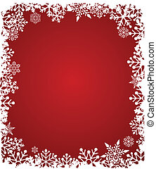 Christmas background with snowflakes pattern, vector