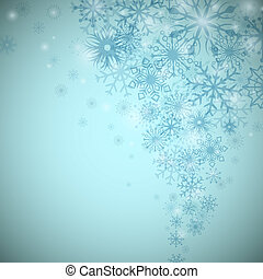 Christmas snowflake flow vector background with copy space.
