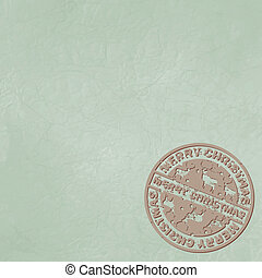 Christmas stamp with copyspace. EPS 8