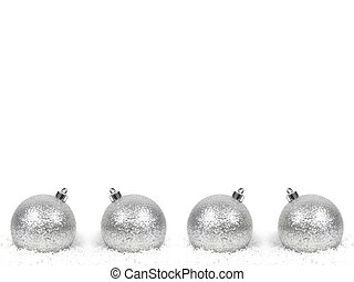 Christmas ornaments and items shot in studio