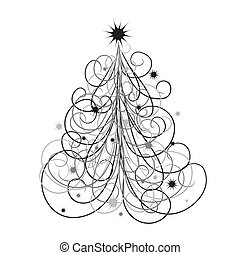 Christmas tree background, vector