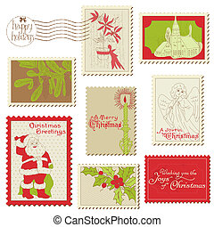 Christmas Vintage Stamp Collection - great set for your design, scrapbook, invitation