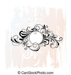 Circle Decorative Floral Ornament, editable vector illustration