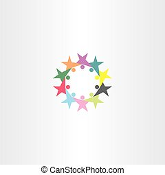 circle people vector team icon symbol sign