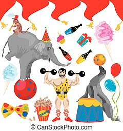 Circus Birthday Party Clip art elem