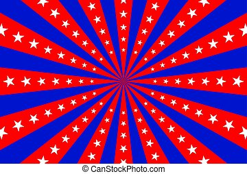 circus red and blue background