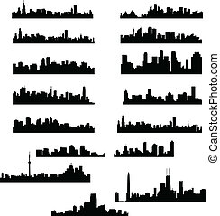 City skylines collection - vector illustration