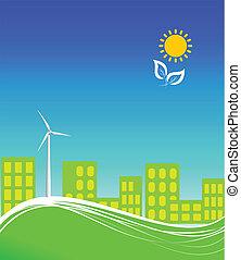 City using clean energy