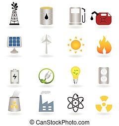 Clean alternative energy and environment symbols