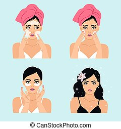 Clean beauty routine