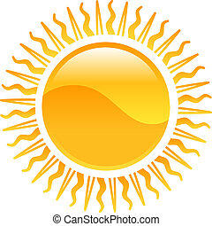 Weather icon clipart sun illustration