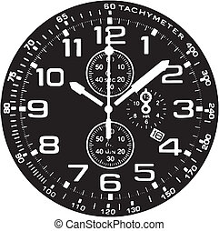 Clock Watch Vector [vector trace of image]