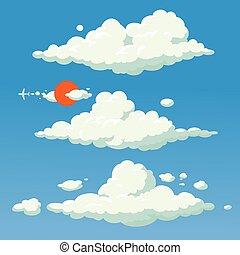 Cloud cartoon style vector illustration background