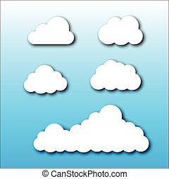 Cloud Set Cartoon Style