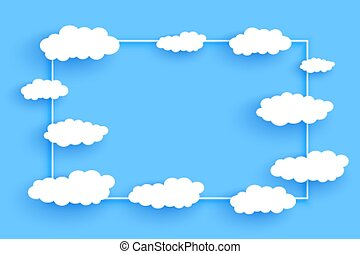 clouds frame background with text space design