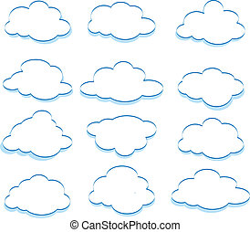 The vector illustration of the clouds