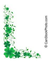Clover floral ornament