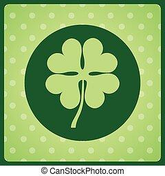 clover leaf design, vector illustration eps10 graphic