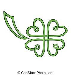 clover leaf isolated on white backg