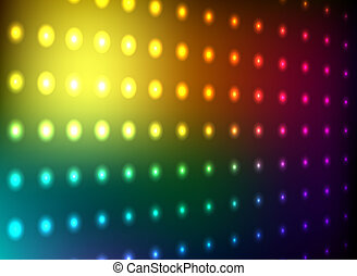 Colorful club light wall vector background.