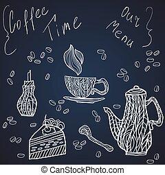 Coffee time set card
