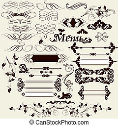 Collection of calligraphic desig