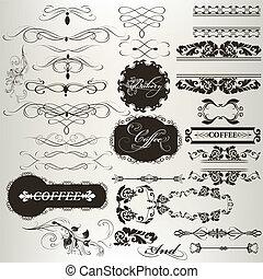 Collection of calligraphic design e