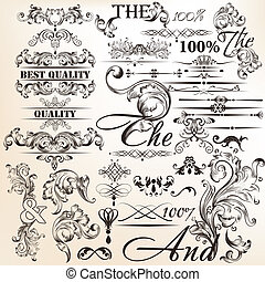 Collection of calligraphic vector