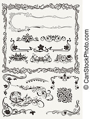 Collection of Ornamental Borders And Elements in Ancient Design styles