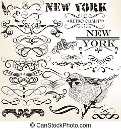 Collection of vector calligraphic
