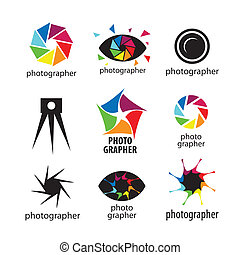 collection of vector logos for photographers and photo