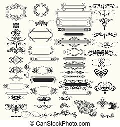 Collection of vector vintage design elements