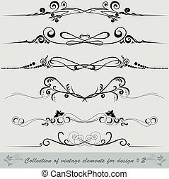 collection of vintage elements for design #2