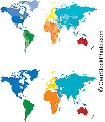 Color Continent and Country map